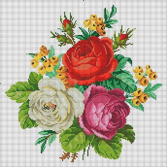 Schemi Gratis Punto Croce Rose Di Maggio Per Le Vostre Creazioni