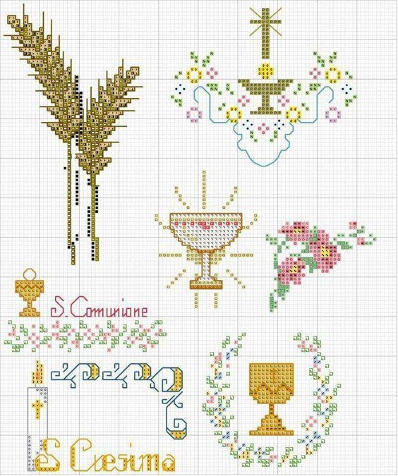 Exceptionnel Idee bomboniere a punto croce. Schemi di motivi e piccoli alfabeti. GN43
